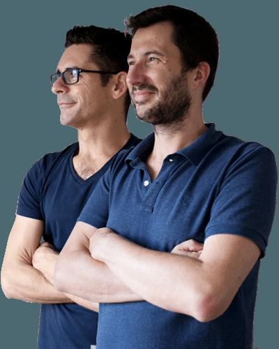 Stéphane et Arnaud, de l'agence Graciet & Co