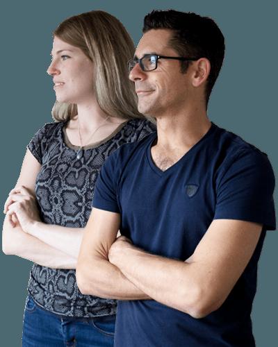 Fanny et Stéphane, de l'agence Graciet & Co