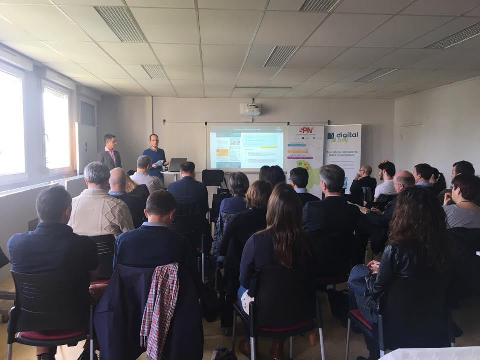 Stéphane Graciet et Sylvain Dejean à la conférence inbound marketing du SPN