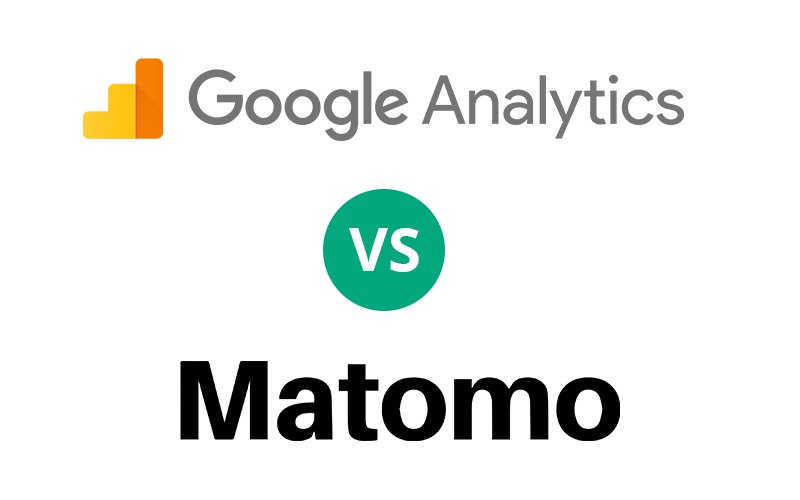 Logos de Matomo et de Google Analytics